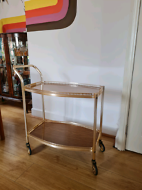 RETRO Mid-Century Drinks Trolley
