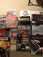 Hard cover classic car and truck books