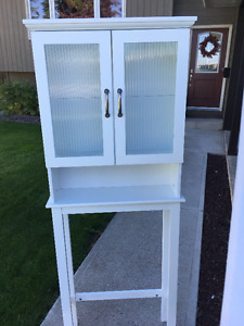 White Melamine Beacon Hill Over-the-Toilet Space Saver Cabinet