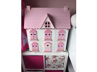 Elc wooden dolls house (rosebud)