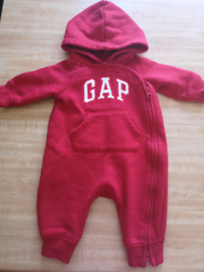 0-3 month Baby Gap one piece hoodie