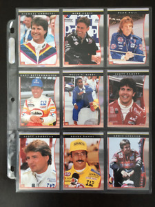 SET of 100 AUTO RACING TRADING CARDS 1992