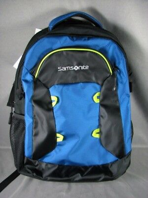 "Samsonite Prelude DLX Scholar Laptop Backpack 15.6"" New Blue Black Green"