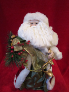"""Father Christmas - Santa Clause Figure 14.5"""" Tall with Holiday"""