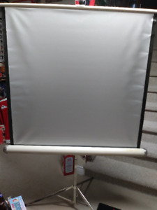 Nice! 1970s Vintage Stand-up Projection Screen (silver screen)