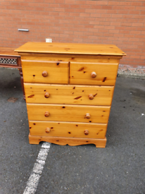 45. Solid pine chest