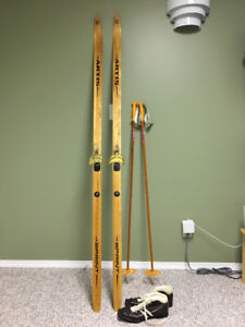 Cross Country Skis, Polls and Boots
