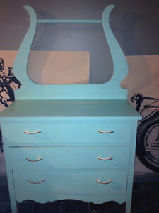 Newfoundland Painted Dresser with Towel Bar