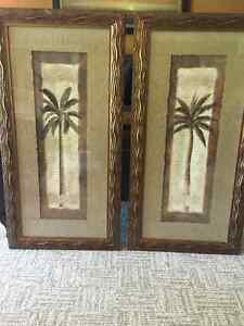 Palm Trees framed art 40 inches x 21 inches