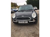 Mini One 3 door Hatchback 2003