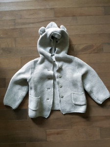 Gap Hooded Cardigan 18-24 months