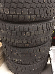 Studded Winter Tires on Rims- 275/65 R18
