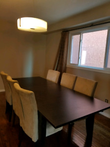 Dark Brown Dining Table (can sit 6)