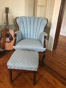 Vintage chair and footstool - Mint condition