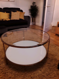 New modern gold & glass coffee table