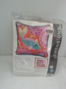 Dimensions needle point koi flowers