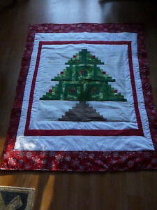 CHRISTMAS TREE QUILT - LAP QUILT OR WALLHANGING
