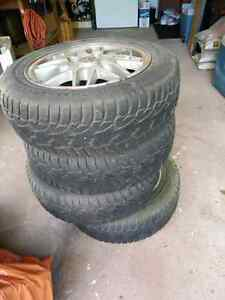 Good Condition Winter Tires on Rims - 185/65R15 -