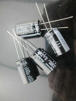 89pcs Rubycon Yxf 3300mfd 6.3v 3300uf 12.5x20mm Electrolytic Capacitor 105