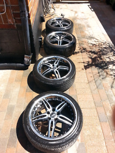 5x114.3 18 VIP Status rims and tires 5x115 WANT GONE