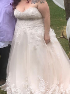 Plus size wedding gown. Only use for a few hours