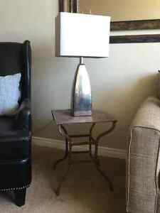 SIDE TABLE AND LAMP  - MOVING SALE!!
