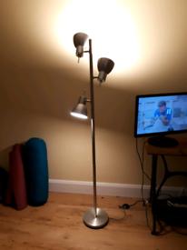 Metal free standing light lounge chrome industrial spot light lamp