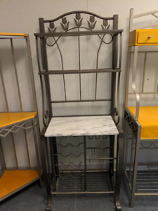 Bakers Rack with Marble Top