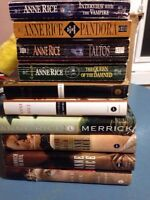 Anne rice books  please email text or phone if interested