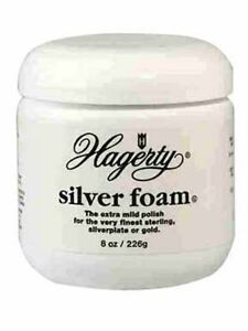 HAGERTY SILVER FOAM * 8 OZ * STERLING FLATWARE POLISH