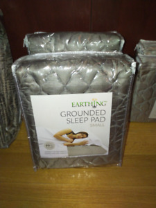 """Earthing Grounded Silver Sleep Pad Kit - Small: 27 x 72"""" (2)"""