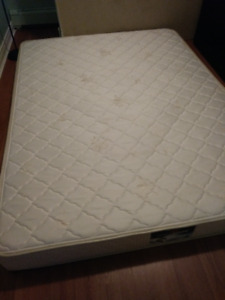delivery included- 2yr old queen mattress boxspring
