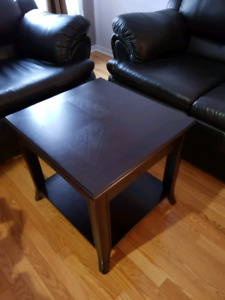 Love seat, Chair, and coffee table