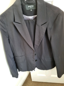Black ladies trousers suit size 16