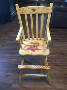 decorative antique high chair