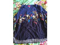 Joules navy floral top