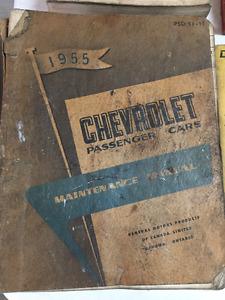 1955 Chevrolet passenger car maintenance manual