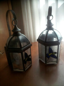 2 electric lanterns - outdoor