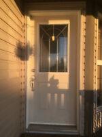 EXCELLENT Affordable exterior door replacement, STORM DOOR, scre