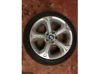 """BMW X1 Alloys 18"""" fitted with winter tyres. X 4"""