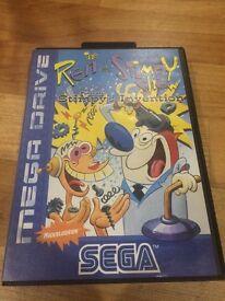 Sega Mega Drive Game - Ren & Stimpy