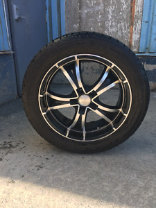 """Like new 20"""" Fast Raven Wheels and Falken Tires"""