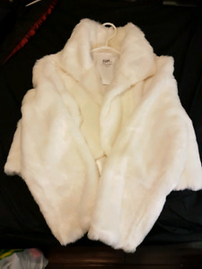 Faux Fur Winter Bridal Jacket