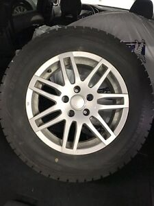 VW Tiguan Winter Tires on Alloy Wheels Dunlop 215/65/16