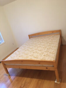 Mint Condition Real Wood Queen Size Bed