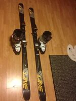 Skis, goggles and, boots