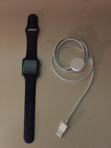 Apple Watch - Space Grey 38mm Black Band