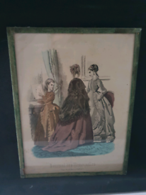Framed Picture from 19th century.