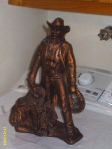 Statue de Cowboy en céramique