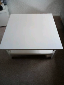 IKEA Hemnes white coffee table.